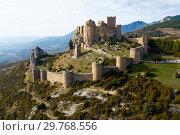Купить «Top view of the castle Castillo de Loarre. Huesca Province. Aragon. Spain», фото № 29768556, снято 2 декабря 2018 г. (c) Яков Филимонов / Фотобанк Лори