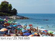 Купить «People on the Adriatic sea beach», фото № 29769660, снято 12 августа 2018 г. (c) Stockphoto / Фотобанк Лори