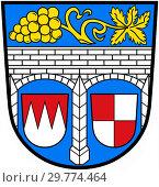 Купить «Герб района Китцинген. Германия», иллюстрация № 29774464 (c) Владимир Макеев / Фотобанк Лори