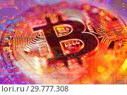 Купить «Economy trends virtual digital currency abstract background», фото № 29777308, снято 30 мая 2013 г. (c) bashta / Фотобанк Лори