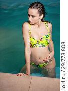 Купить «Attractive young woman in summer.», фото № 29778808, снято 31 мая 2016 г. (c) Сергей Сухоруков / Фотобанк Лори