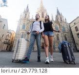 Купить «Couple going the historic city center», фото № 29779128, снято 25 мая 2017 г. (c) Яков Филимонов / Фотобанк Лори
