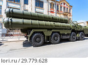 Купить «Russian anti-aircraft missile system (SAM) S-300», фото № 29779628, снято 5 мая 2018 г. (c) FotograFF / Фотобанк Лори