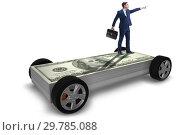 Купить «Businessman in the business concept with dollar car», фото № 29785088, снято 20 июня 2019 г. (c) Elnur / Фотобанк Лори