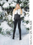 Купить «Beautiful blonde posing standing.», фото № 29786924, снято 16 января 2016 г. (c) Сергей Сухоруков / Фотобанк Лори
