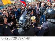 Купить «Opposition protest rally ahead of President Vladimir Putin's inauguration ceremony», фото № 29787148, снято 5 мая 2018 г. (c) FotograFF / Фотобанк Лори