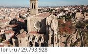 Купить «Collegiate Basilica of Santa Maria in Manresa, Spain», видеоролик № 29793928, снято 9 декабря 2018 г. (c) Яков Филимонов / Фотобанк Лори