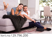 Купить «Happy couple at home», фото № 29796200, снято 17 июля 2018 г. (c) Яков Филимонов / Фотобанк Лори