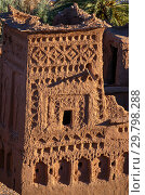 Tower of Kasbah Ait Ben Haddou (2018 год). Стоковое фото, фотограф Михаил Коханчиков / Фотобанк Лори