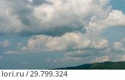 Купить «Cloudscape nature timelapse», видеоролик № 29799324, снято 26 января 2019 г. (c) Игорь Жоров / Фотобанк Лори