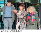 Купить «Katie Price leaves Portcullis House, with her mother Amy and son Harvey, after addressing a parliamentary sub-committee on on-line hate Featuring: Katie...», фото № 29806628, снято 6 февраля 2018 г. (c) age Fotostock / Фотобанк Лори