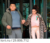 Купить «Katie Price leaves Portcullis House, with her mother Amy and son Harvey, after addressing a parliamentary sub-committee on on-line hate Featuring: Katie...», фото № 29806712, снято 6 февраля 2018 г. (c) age Fotostock / Фотобанк Лори