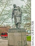 Купить «Памятник Уинстону Черчиллю. Прага. Чехия», фото № 29813708, снято 22 декабря 2015 г. (c) Сергей Афанасьев / Фотобанк Лори