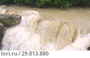Купить «Beautiful natural canyon and amazing waterfall», видеоролик № 29813880, снято 28 января 2019 г. (c) Mikhail Starodubov / Фотобанк Лори