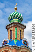 Купить «Tower with dome of islamic mosque against the sky», фото № 29813956, снято 11 июня 2018 г. (c) FotograFF / Фотобанк Лори