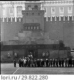 Очередь в Мавзолей В.И. Ленина. Стоковое фото, фотограф Борис Кавашкин / Фотобанк Лори