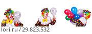 Купить «Funny male clown isolated on white», фото № 29823532, снято 17 июля 2019 г. (c) Elnur / Фотобанк Лори