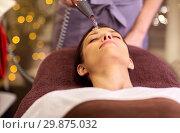 Купить «woman having hydradermie facial treatment in spa», фото № 29875032, снято 26 января 2017 г. (c) Syda Productions / Фотобанк Лори