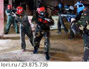 Купить «Players of red team are ready for attack on battlefield.», фото № 29875736, снято 10 июля 2017 г. (c) Яков Филимонов / Фотобанк Лори