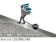 Купить «Student in loan and expensive education concept», фото № 29886540, снято 19 марта 2019 г. (c) Elnur / Фотобанк Лори