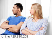 Купить «unhappy couple having argument at home», фото № 29890208, снято 9 февраля 2014 г. (c) Syda Productions / Фотобанк Лори