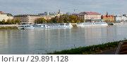 Panorama of Bratislava with Danube (2017 год). Стоковое фото, фотограф Яков Филимонов / Фотобанк Лори