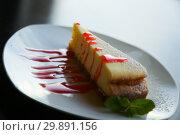 Купить «cheesecake served nicely», фото № 29891156, снято 22 августа 2019 г. (c) Яков Филимонов / Фотобанк Лори