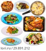 Купить «Set of poultry food isolated», фото № 29891212, снято 21 июля 2019 г. (c) Яков Филимонов / Фотобанк Лори