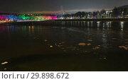 Купить «Moskva River on a winter evening, Moscow, Russia», видеоролик № 29898672, снято 7 февраля 2019 г. (c) Владимир Журавлев / Фотобанк Лори