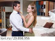 Купить «Romantic couple at home», фото № 29898956, снято 24 сентября 2018 г. (c) Яков Филимонов / Фотобанк Лори