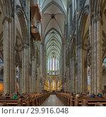 Купить «Интерьер Кёльнского собора, Германия», фото № 29916048, снято 10 декабря 2018 г. (c) Михаил Марковский / Фотобанк Лори