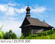 Купить «Wooden church in Kazimierz Biskupi, Poland», фото № 29919300, снято 11 мая 2018 г. (c) Яков Филимонов / Фотобанк Лори