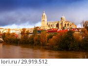 Купить «Salamanca Cathedral in autumn. Spain», фото № 29919512, снято 17 ноября 2014 г. (c) Яков Филимонов / Фотобанк Лори