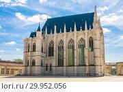 Europe, France, Vincennes, Chateau de Vincennes, The Sainte Chapelle (2018 год). Стоковое фото, фотограф Николай Коржов / Фотобанк Лори