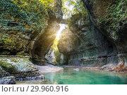 Купить «Martvili canyon, Georgia», фото № 29960916, снято 29 сентября 2018 г. (c) Юлия Бабкина / Фотобанк Лори