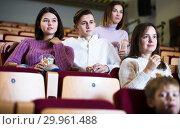 Купить «Couple watching movie», фото № 29961488, снято 3 декабря 2016 г. (c) Яков Филимонов / Фотобанк Лори