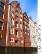 Altstadt, Hamburg old town, Germany (2018 год). Стоковое фото, фотограф EugeneSergeev / Фотобанк Лори