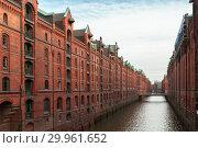 Speicherstadt, Hamburg, Germany (2018 год). Стоковое фото, фотограф EugeneSergeev / Фотобанк Лори