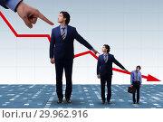 Купить «Businessmen blaming each other for failures», фото № 29962916, снято 18 июля 2019 г. (c) Elnur / Фотобанк Лори