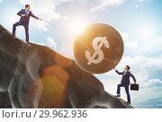Купить «Trader trading in american dollar», фото № 29962936, снято 19 марта 2019 г. (c) Elnur / Фотобанк Лори