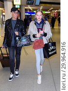 Купить «Celebrities leaving to Australia for german RTL TV Show 'Ich bin ein Star - Holt mich hier raus' at Berlin Tegel Airport. Featuring: Natascha Ochsenknecht...», фото № 29964916, снято 14 января 2018 г. (c) age Fotostock / Фотобанк Лори