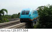 Купить «Monorail train from Sentosa island», видеоролик № 29977564, снято 24 ноября 2018 г. (c) Игорь Жоров / Фотобанк Лори