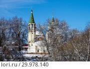 Купить «Церковь Троицы Живоначальной в Серпухове, Московская область», фото № 29978140, снято 14 февраля 2019 г. (c) Natalya Sidorova / Фотобанк Лори
