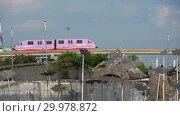 Купить «Monorail train to Sentosa island», видеоролик № 29978872, снято 24 ноября 2018 г. (c) Игорь Жоров / Фотобанк Лори