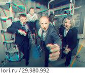 Купить «Toned image of business people running», фото № 29980992, снято 29 января 2019 г. (c) Яков Филимонов / Фотобанк Лори