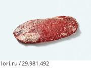 Купить «The whole organic raw veal pound of flesh for bbq on a white background with shadows.», фото № 29981492, снято 24 января 2019 г. (c) Ярослав Данильченко / Фотобанк Лори