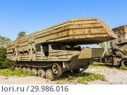 Купить «Amphibious military vehicle at The Museum of Army Collections from the Croatian Homeland War.», фото № 29986016, снято 4 августа 2013 г. (c) easy Fotostock / Фотобанк Лори