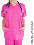 Купить «Pink scrubs», фото № 29998824, снято 31 июля 2012 г. (c) Wavebreak Media / Фотобанк Лори