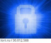 Купить «Digitally generated padlock », фото № 30012588, снято 19 августа 2013 г. (c) Wavebreak Media / Фотобанк Лори