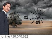 Купить «Composite image of business plan on dark countryside», фото № 30040632, снято 10 ноября 2013 г. (c) Wavebreak Media / Фотобанк Лори